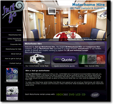 motorhome hire uk by cambridge web designers